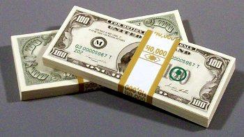 Vintage $10k filler prop money bundle