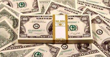 vintage 100 dollar bill stack