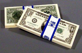 $1 bill style filler money bundle