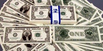 $1 bill style full money bundle