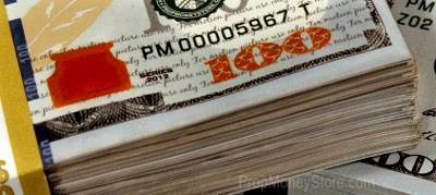 New $100 bill close up