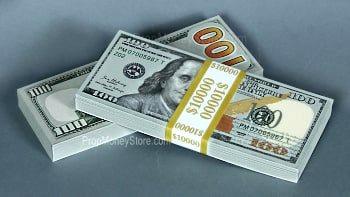 New $10,000 fake money stacks
