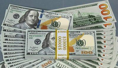 Double sided prop money bills