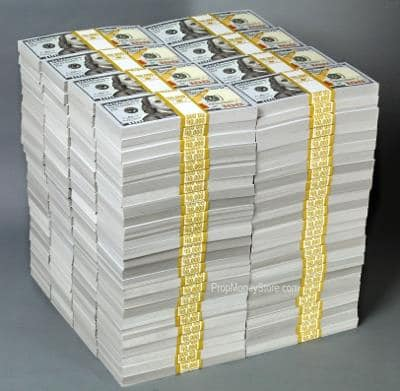 What 1 TRILLION Dollars Looks Like In Dollar Bills
