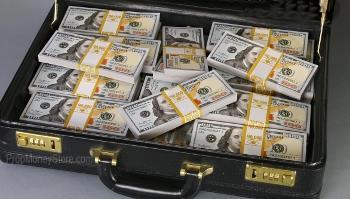 brief case full of money prop
