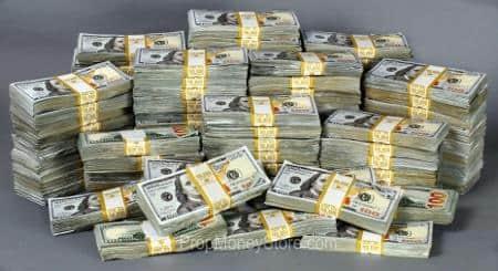 Prop Money Stacks Piles Dimensions Measurements