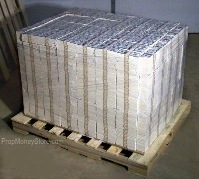 pallet of prop money