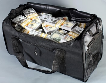 duffel bags briefcases and other prop money offerings