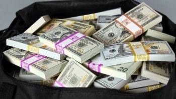 Bag of prop prop money
